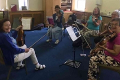 Geraldine O'Grady works with some of the adult group